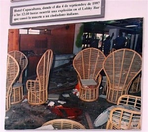 Hotel Copacabana after the bombing.