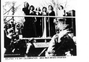 Uncle Mel's troupe performs for VE-DAY 1945.