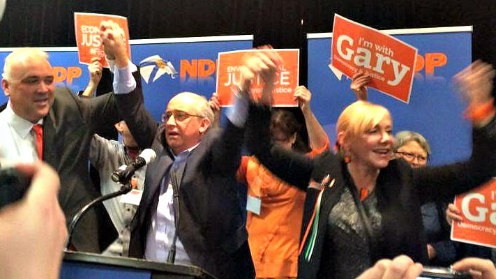 Gary Burrill wins NDP leadership (Danielle Cameron, The Signal)