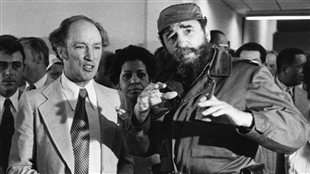 Trudeau with Castro, 1976 (Radio Canada)
