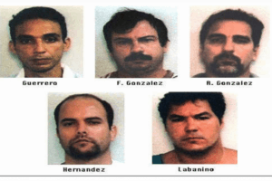 Arrest photos of Cuban Five